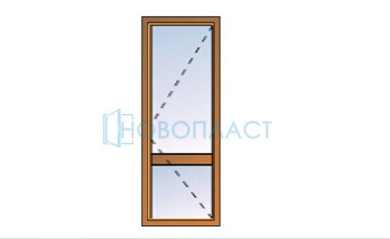Дверь поворотная СПО(Однокамерный стеклопакет)