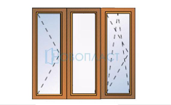Окно пластиковое поворотное и поворотно-откидное профиль Rehau  Delight-Design СПД (Двухкамерный стеклопакет)