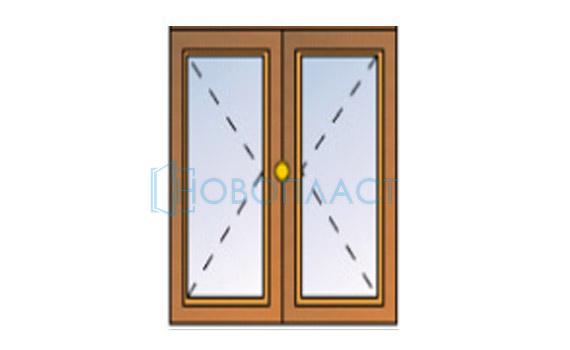 Окно пластиковое поворотное (1 стекло)
