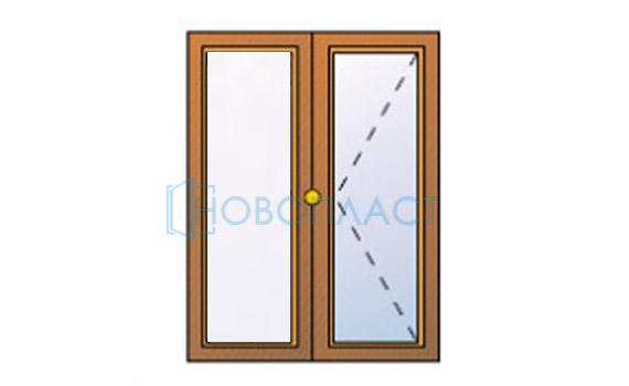 Окно пластиковое поворотное 5 — камерное СПД (Двухкамерный стеклопакет)