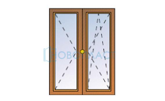Окно пластиковое поворотно-откидное  и поворотное (1 стекло)