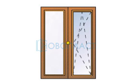Окно пластиковое поворотно-откидное профиль Rehau  Delight-Design СПД (Двухкамерный стеклопакет)
