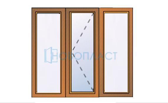 Окно пластиковое поворотное профиль Rehau  Delight-Design СПД (Двухкамерный стеклопакет)