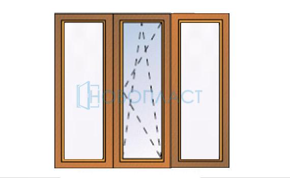 Окно пластиковое поворотно-откидное 5 — камерное СПД (Двухкамерный стеклопакет)